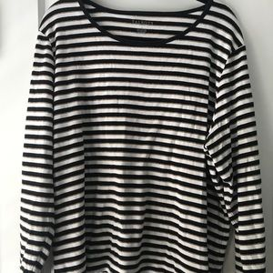 Talbots striped long sleeve tee, 3X
